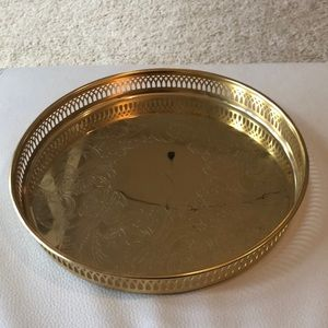 Vintage Accents - Vintage Scandia Gold 24 carat gold plated tray
